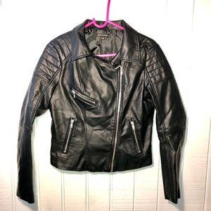 Faux Leather biker jacket. Juniors size medium